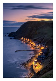 Crovie - is a small village in Aberdeenshire, Scotland, UK comprising a single row of houses. Crovie is situated on such a narrow ledge that any cars have to be left at the south of the village. Th...