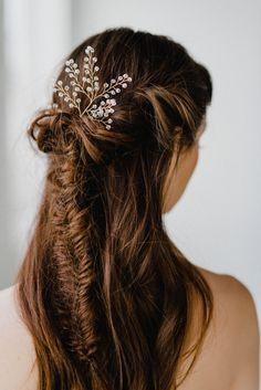 SALE Crystal Bridal Hair Pin  Crystal Hair Pins  Gold Hair
