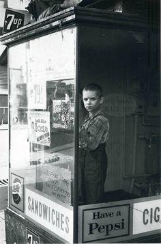 boy in window, 1962 • lee friedlander