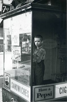 Lee Boy in Window, photographer Friedlander, Baltimore, 1962