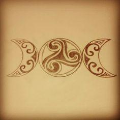 Three moons, triskel tattoo design. Designed by Jennifer Boddey