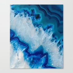 Royally Blue Agate Canvas Print by Thequarry - MEDIUM
