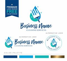 Cleaning logo, House Cleaner Logo, Premade Housekeeper Logo, Cleaning Service Branding, Maid Logo, Cleaning business logo, Housemaid logo402 Business Names, Business Logo, Business Card Design, Branding Kit, Branding Design, Logo Design, Cleaning Service Logo, Cleaning Services, Cleaning Business