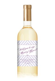 Maid of Honor Wine Label - Wine Bottle Labels by Invitation Consultants