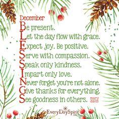 December - Blessings
