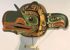 Raven Releasing Salmon Transformation Mask by Tom D. Hunt, Kwakwaka'wakw artist (W40901)