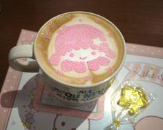 Latte at Kiki & Lala Little Twin Stars Cafe in Shibuya (via DebAoki via RocketNews)