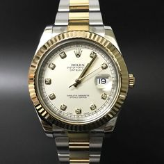 Rolex Datejust II 116333 Cream Diamond. #watchporn #watchmania #wristwatch #watchoftheday #timepiece #secondhand #instawatch #secondoriginalwatch #jamtanganseken #preownedwatch #luxurywatch. www.mulialegacy.com