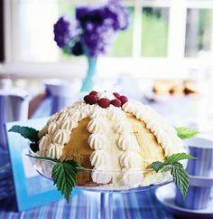 Low fat & gluten free raspberry cake - Kevyt ja gluteeniton vadelmakakku