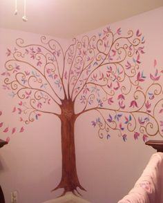I'm doing something similar and hanging pictures from the branches... family tree..