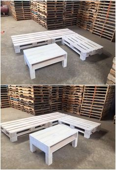 Did you ever try transforming your old wood pallet into the couch and table furniture set? Well this image will make you show that how amazing and awesome this transformation will turn out for you. This couch and table set is giving an artistic look in perfect premium use of the wood pallet.