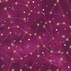 Constellation Raspberry METALLIC CM6792-rasp  Designer: Michael Miller Brand: Michael Miller Width: 44/45 Content: 100% quilt weight cotton Washing Instructions: Machine Wash Warm/ Tumble Dry Warm Re-orderable: NO  FABRIC IS CUT CONTINUOUS EXCEPT FOR FAT QUARTERS. To purchase a