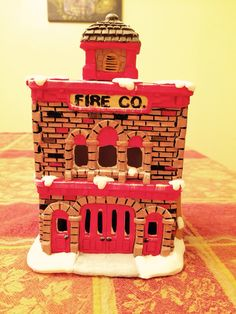 #firehouse #christmasvillage #ceramicpainting