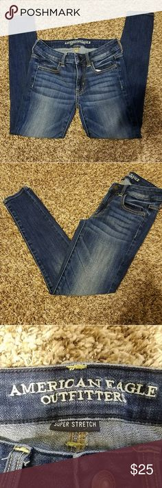 "🔥LIKE NEW🔥 American Eagle Super Stretch Jeggings American Eagle Super Stretch Jegging Jeans Size 2 Short   Amazing Condition!   See pictures for best descriptions!   Inseam: 26""  Outseam: 34.5""   Message me with any questions!   Thanks for looking! American Eagle Outfitters Jeans Skinny"