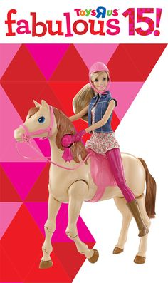 Watch Barbie go horseback riding with the Barbie Saddle 'N Ride Horse! #TRUHotToyList