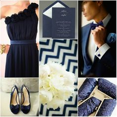 Navy Blue Wedding Inspiration | Percy Handmade I would almost forget purple for this classy color lol