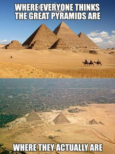 Funny pictures about Where The Pyramids Really Are. Oh, and cool pics about Where The Pyramids Really Are. Also, Where The Pyramids Really Are photos. Ancient Aliens, Ancient Egypt, Ancient History, Ancient Artifacts, Best Funny Pictures, Funny Photos, Funny Images, Random Pictures, Luxor