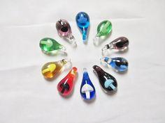 GLASS MUSHROOM Pendants New lot of 10 SHROOMS - Large Size Focal Bead Wholesale