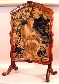 French Louis XV Walnut Fire Screen   c.1770