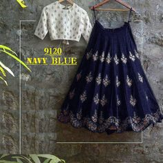 Trendy Navy Blue Bollywood Lehengas Collection ,Indian Dresses