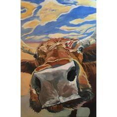 The Boy Down the Street #ontheeaseltoday #cow #moo #defininghome #barkingdogcreationsstudio #cowart