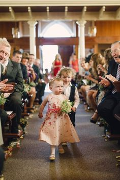 Flower girl and page boy from a Celebration at Gosford Castle in Northern Ireland | Photography by http://www.paulaohara.com/