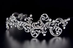 VINTAGE SCROLLS WEDDING HEADBAND WITH CRYSTALS  $98.99