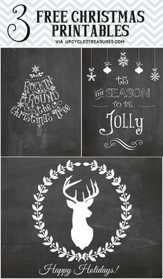 Holiday printables for the home