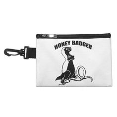 Honey badger accessory bag - animal gift ideas animals and pets diy customize