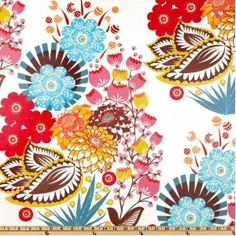 Anna Maria Horner LouLouthi Laminated Cotton Summer Totem Tart Fabric By The Yard