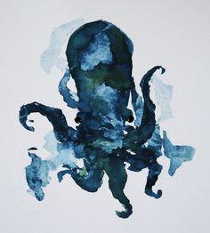 octo watercolour