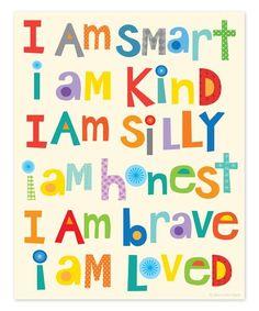 Look what I found on #zulily! 'I Am Smart' Print #zulilyfinds