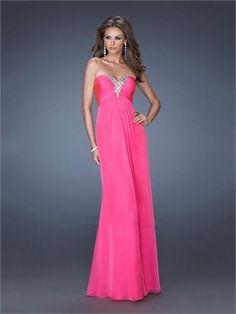 Beautiful Sweetheart Crystals Empire Crisscross Back Chiffon Prom Dress PD11447