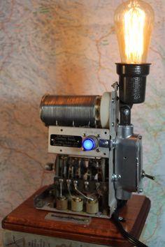 Grampa Munsters Laboratory Light, steampunk industrial lamp by RockycatDesign on Etsy https://www.etsy.com/listing/483304855/grampa-munsters-laboratory-light