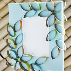Cardboard Petal Picture Frame | Recycled Crafts - Recyclable Crafts for Kids - Recycling Craft Ideas | FamilyFun