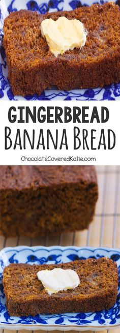 Gingerbread Banana Bread - A super healthy and delicious homemade breakfast recipe: 1 cup mashed banana, 2 tsp cinnamon, tsp cloves, cup. Köstliche Desserts, Delicious Desserts, Yummy Food, Cinnamon Desserts, Cinnamon Cookies, Holiday Baking, Christmas Baking, Christmas Bread, Gingerbread Banana Bread