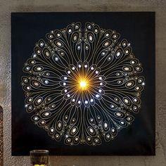 Divali Firework Light-Up Canvas Art
