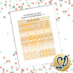October Free Printable!Download Here: PDF //SilhouetteEnjoy these free glitter October stickers made to perfectly fit the ECLP vertical!