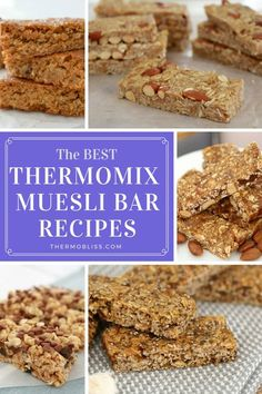Whether it's for a quick and easy breakfast on the go, a lunchbox treat, or an afternoon pick-me-up, we've got all of the BEST Thermomix muesli bar recipes! Lunch Box Recipes, Bar Recipes, Sweet Recipes, Breakfast Recipes, Snack Recipes, Cooking Recipes, Lunch Ideas, Cooking Tips, Muesli Slice