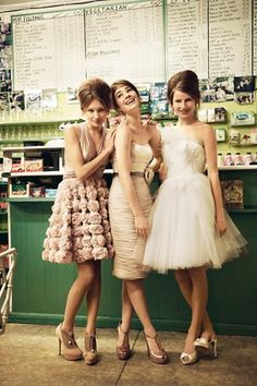 Two Birds bridesmaids- Kate, the style of this pic reminded me of something you'd like, very chic!