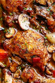 Coq Au Vin Coq Au Vin, or chicken in wine, is a popular classic French dish made easy with crispy chicken pieces! An easy chicken recipe with crispy chicken drumsticks, chicken thighs and bacon, this Coq au Chicken Drumstick Recipes, Chicken Recipes Video, Honey Balsamic Chicken, Classic French Dishes, Cooking Recipes, Healthy Recipes, Oven Recipes, What's Cooking, Coq Au Vin