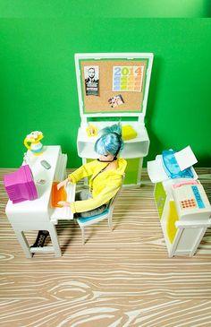 Barbie Graphic Designer Office Space Playset $28.75 via Tinyfrockshop.com