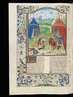 Cologny, Fondation Martin Bodmer, Cod. Bodmer 53, f. 102v – Quinte-Curce, Faits et gestes d'Alexandre