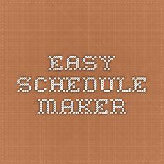 easy schedule maker online
