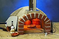 32″ pizza oven kit for the home and garden. Includes everything you need to assemble a professional-grade wood oven, including refractory dome and vent, firebrick tile cooking floor, 3″ (3 x 1″) ceramic blanket dome insulation, 2″ ceramic board floor insulation, high temp mortar, 6″ x 24″ stainless steel chimney with rain cap, steel door and thermometer. Oven tools not included.Fast 40 minute heat up time and outstanding heat retention....