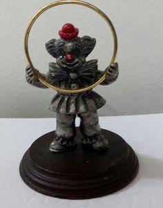 George Good Pewter Clown with Hoop