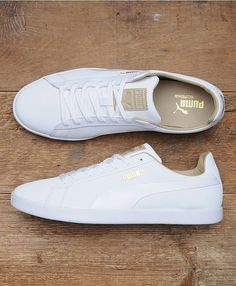 Puma white trainers - Adidas White Sneakers - Latest and fashionable shoes - Puma white trainers White Puma Shoes, Puma Shoes Women, White Tennis Shoes, All White Shoes, Shoes For Women, Best White Sneakers, White Sneakers Outfit, Green Sneakers, Adidas Women