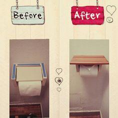 TVや雑誌などで取り上げられることも多いDIYの棚。家は賃貸だから……と諦めていませんか?そんな心配はありません。RoomClipには、賃貸でも原状回復できる棚が多く紹介されています。賃貸だってアナタ好みの部屋にリノベーションすることが出来ますよ! Wooden Projects, Diy Furniture Projects, Toilet Design, Diy Interior, Love Home, Home Decor Accessories, Home Organization, Room Inspiration, Diy Home Decor