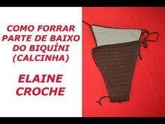 COMO FORRAR BIQUÍNIS EM CROCHÊ - PARTE DE BAIXO (CALCINHA) - YouTube