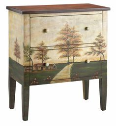 Stein World Furniture  Name : Accent Chest 2dw Countryside Motif
